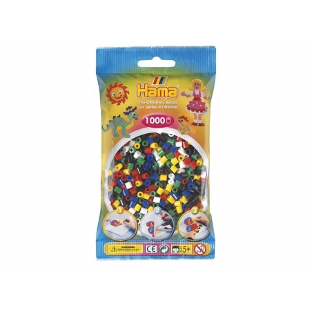 Bag of 1,000 classic HAMA MIDI beads - primary colours