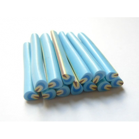 Petal cane - blue and yellow