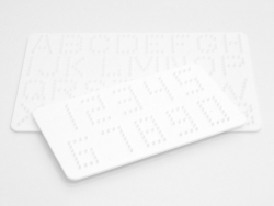 Pegboard for classic HAMA MIDI beads - Numbers and Letters Hama - 1