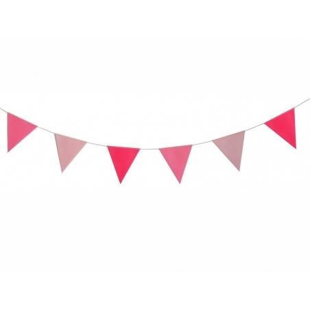 Pink pennant garland