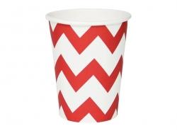 8 gobelets en papier My Little Day - Zigzags rouges
