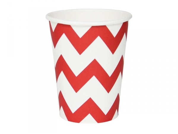 8 My Little Day paper cups - Red triangles