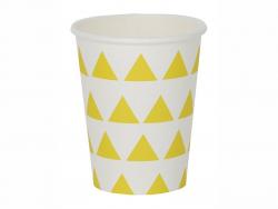 8 Pappbecher von My Little Day - gelbe Dreiecke