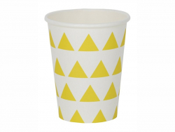 8 gobelets en papier My Little Day - Triangles jaunes