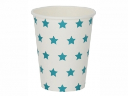 8 My Little Day paper cups - Blue stars