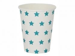 8 Pappbecher von My Little Day - blaue Sterne