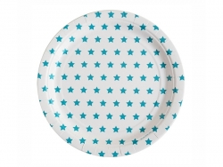 8 paper plates - blue stars
