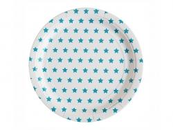 8 assiettes en papier - étoiles bleues