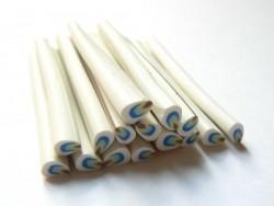 Cane pétale blanc, bleu et jaune  - 1