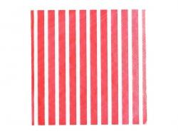20 serviettes en papier My Little Day - Rayures rouges