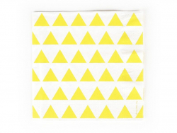 20 My Little Day paper napkins - Yellow triangles