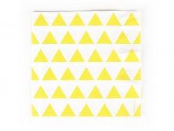 20 Papierservietten von My Little Day - gelbe Dreiecke