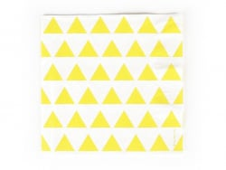 20 serviettes en papier My Little Day - Triangles jaunes