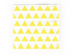 20 serviettes en papier My Little Day - Triangles jaunes