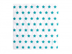 20 Papierservietten von My Little Day - blaue Sterne