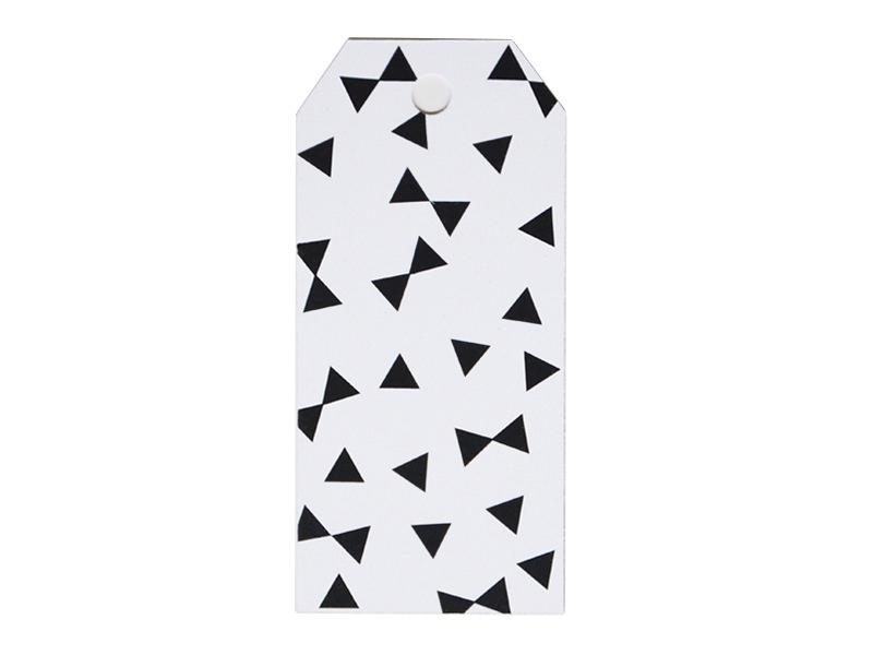 12 étiquettes cadeaux - Noeuds noirs My little day - 1