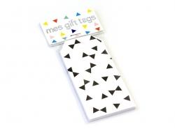 12 étiquettes cadeaux - Noeuds noirs My little day - 2