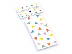 12 étiquettes cadeaux - Multicolores