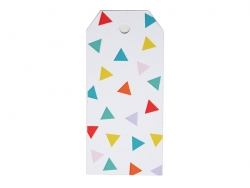 12 gift tags - multi-coloured