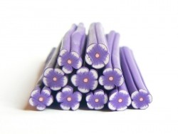 Flower cane - purple