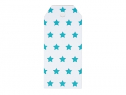 12 étiquettes cadeaux - Etoiles bleues