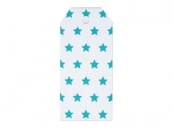 12 Geschenkanhänger - blaue Sterne