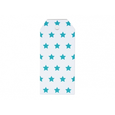 12 étiquettes cadeaux - Etoiles bleues My little day - 1