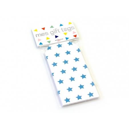 12 étiquettes cadeaux - Etoiles bleues My little day - 2