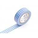 Masking tape motif - quadrillé bleu