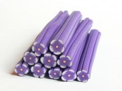 Cane fleur violette en pâte polymère