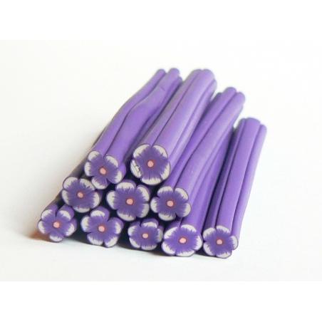 Acheter Cane fleur violette en pâte polymère - 0,99€ en ligne sur La Petite Epicerie - 100% Loisirs créatifs