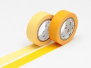 set 2 Masking tape unis - jaune d'or / jaune pâle