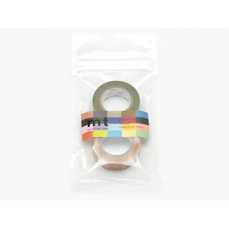set 2 Masking tape unis - vert olive / caramel Masking Tape - 2