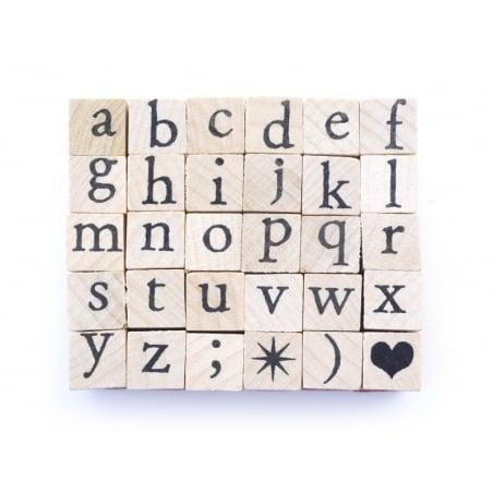 Acheter Tampons lettres minuscules - 30 caractères - 5,99€ en ligne sur La Petite Epicerie - Loisirs créatifs