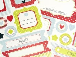 Stickers autocollants pour ranger - Mademoiselle Toga