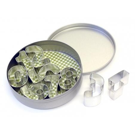 10 Emporte-pièces CHIFFRES - 3,5 cm