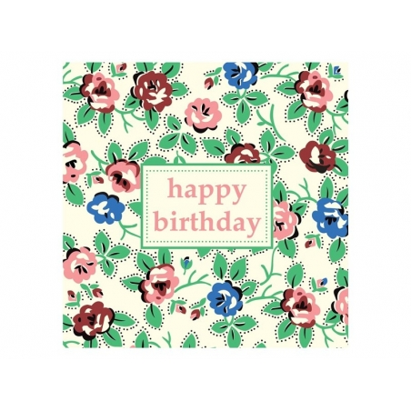 1 Carte Anniversaire Fleurs Vintage Enveloppe Papeterie