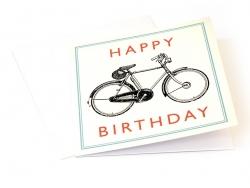 "1 Geburtstagskarte + Umschlag ""Fahrrad"""