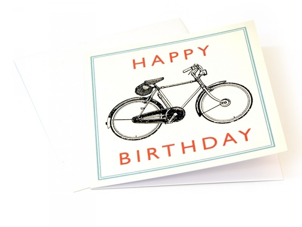 """1 birthday card - """"Bicycle"""" + envelope"""
