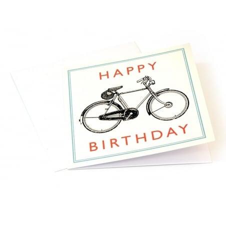 1 carte anniversaire Bicyclette + enveloppe
