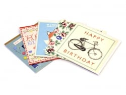 "1 birthday card - ""Bicycle"" + envelope"