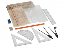 Geometry set - 12 mathematical instruments