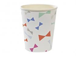 8 gobelets en papier - Noeuds colorés