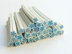 Gänseblümchencane - blau und weiß