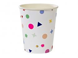 8 gobelets en papier - Confettis