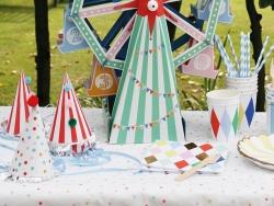 12 gobelets en papier - Pois multicolores