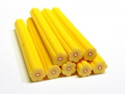 Flower cane - yellow