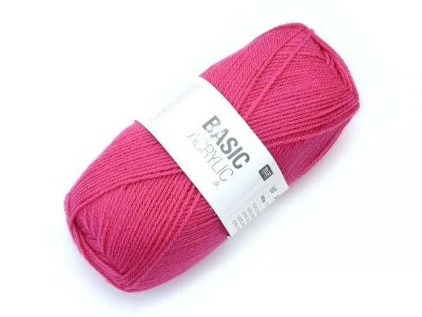 """Acheter Laine à tricoter """"Basic Acrylic"""" - fuchsia - 3,30€ en ligne sur La Petite Epicerie - Loisirs créatifs"""
