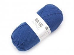 "Knittong wool - ""Basic Acrylic"" - medium blue"