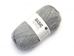 """Acheter Laine à tricoter """"Basic Acrylic"""" - gris clair - 3,30€ en ligne sur La Petite Epicerie - 100% Loisirs créatifs"""